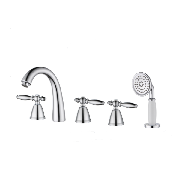 Best selling Luxury Deck mounted Separate bathtub faucets