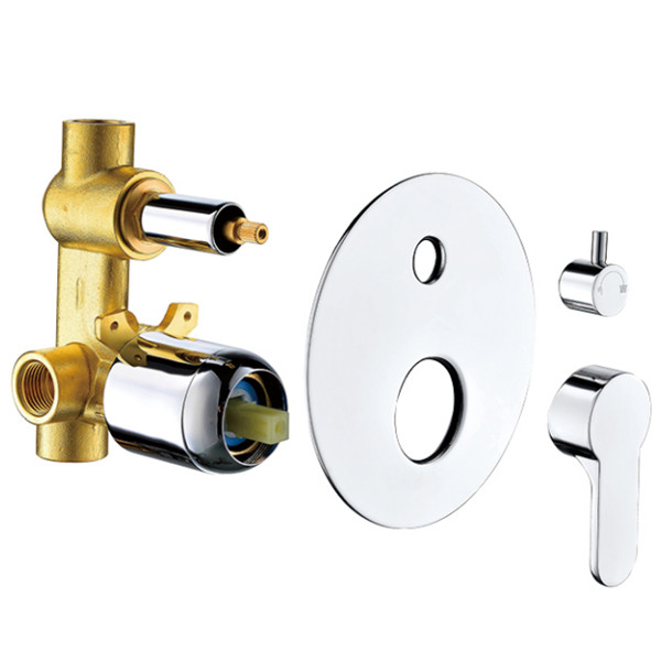 Brass concealed shower valve with 40mm caremic cartridge