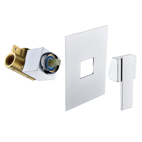 Brass concealed valve shower mixer with 35mm sedal caremic cartridge