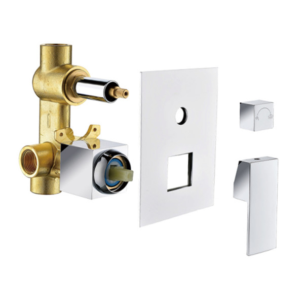 Factory selling brass shower faucet valve body with panel handle