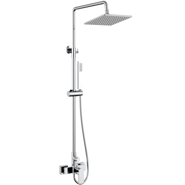 Surface mounted single handle bath mixer shower tap