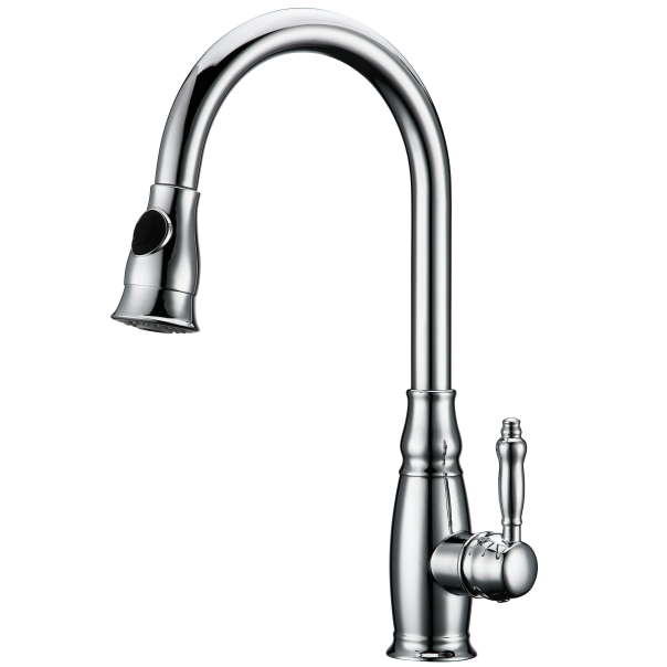 Newest Huagao chrome kitchen faucet with sprayer