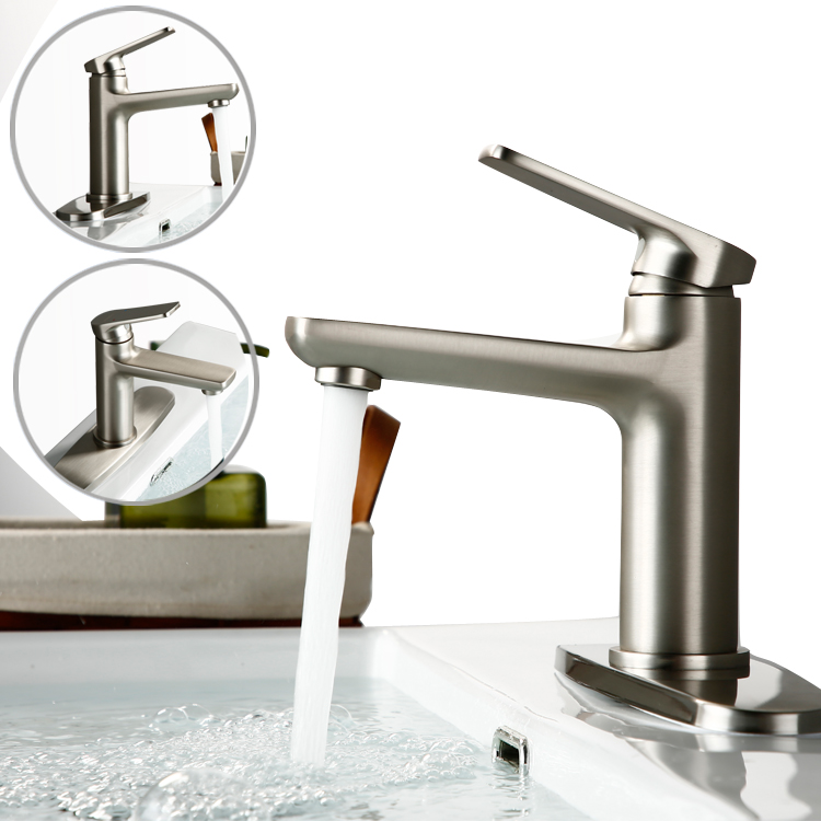 basin faucet with panel