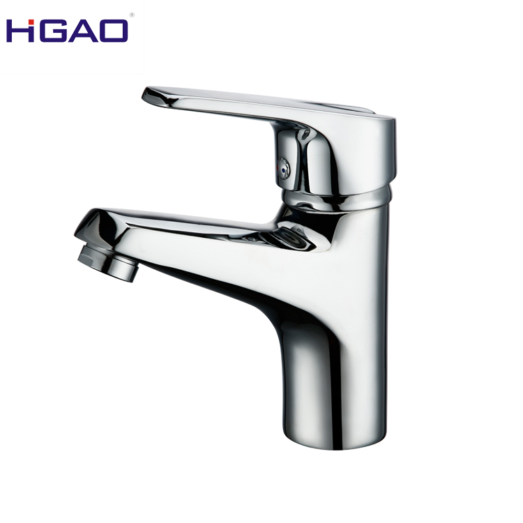 Bathroom hardware zinc alloy single handle cold and hot water lift basin faucet